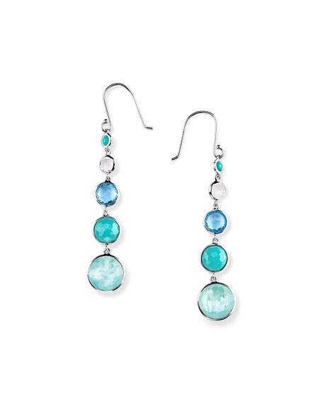 Ippolita Silver Lollitini Five-Stone Earrings in Eclipse