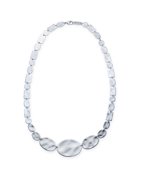 925 Senso™ Oval & Rectangle Necklace, 16-18""