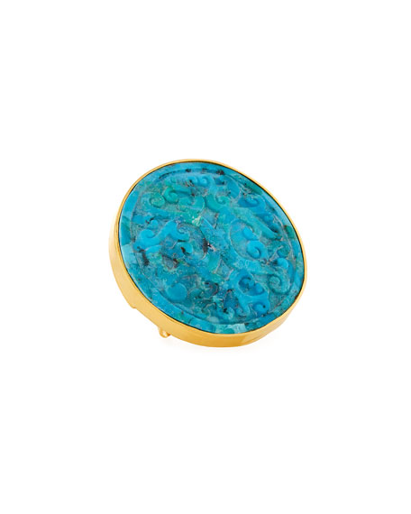 Devon Leigh Adjustable Turquoise Ring
