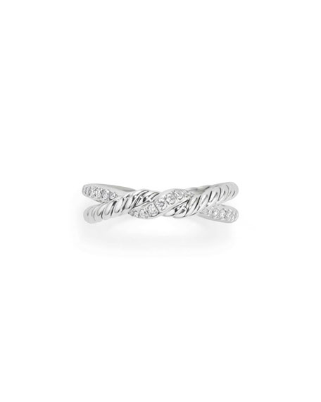 Continuance Sterling Silver Diamond Single-Twist Ring