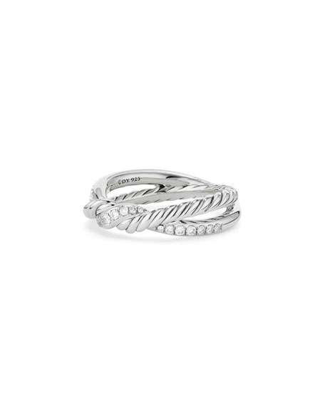 David Yurman Continuance Sterling Silver Diamond Single-Twist