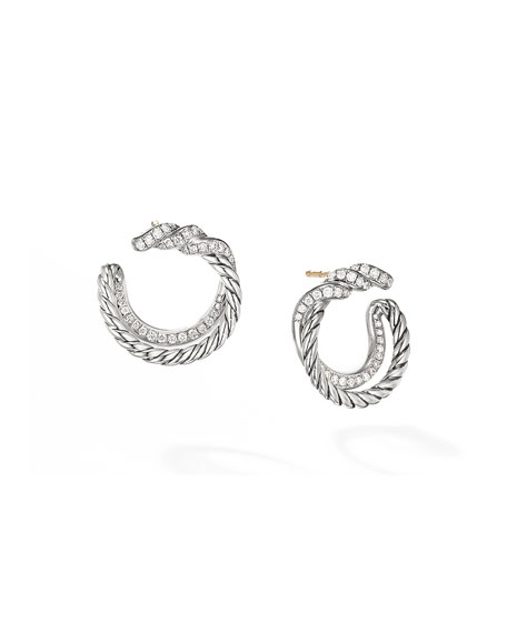 David Yurman Continuance Diamond Hoop Earrings