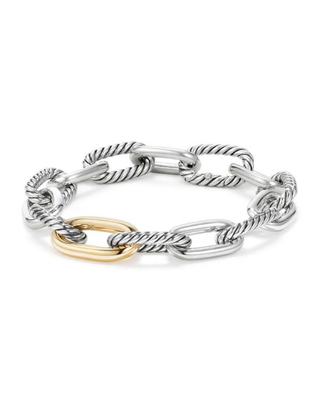 Madison 18k Woman's Medium Chain Link Bracelet, 11mm