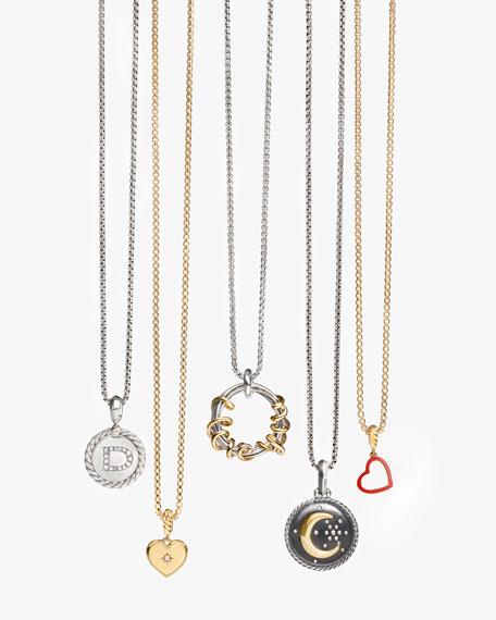 Moon & Star Two-Tone Diamond Amulet