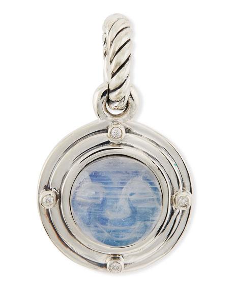 Rainbow Moonstone Moon Amulet