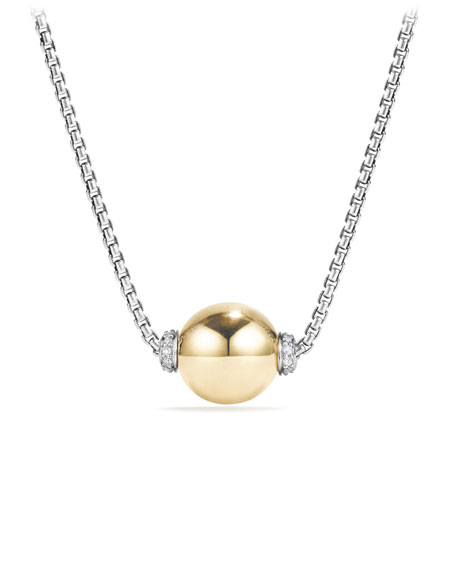 18k Solari Pendant Necklace w/ Diamonds