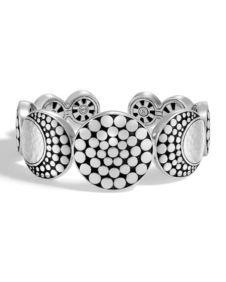 John Hardy Dot Hammered Flex Cuff Bracelet
