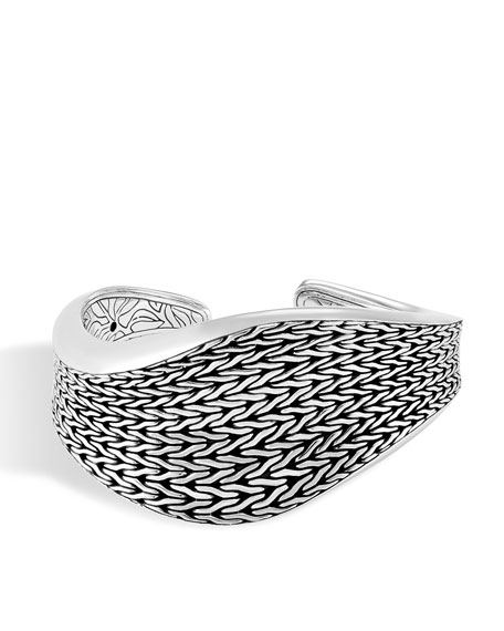 John Hardy Classic Chain Wave Kick Cuff Bracelet