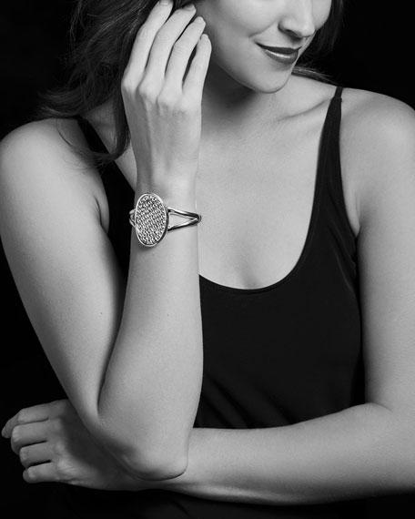 50mm Bold Caviar Vertical Ellipse Cuff Bracelet