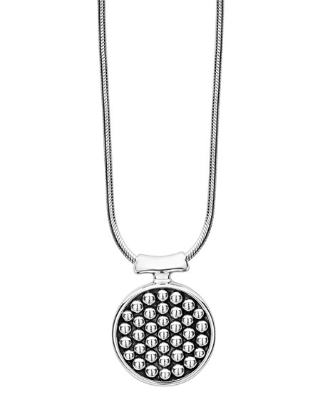 Lagos Bold Caviar Round Pendant Necklace fM3oedSCys