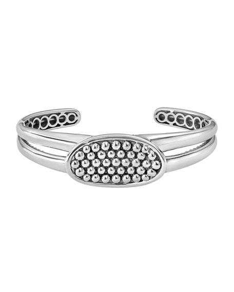 33mm Signature Caviar Horizontal Cuff Bracelet