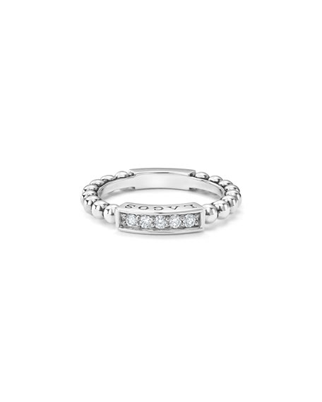 Caviar™ Spark Diamond Station Stack Ring