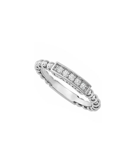 Lagos Caviar™ Spark Diamond Station Stack Ring