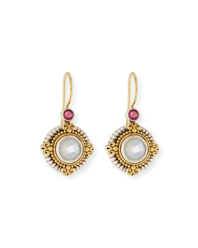 Hestia Round Mother-of-Pearl Drop Earrings