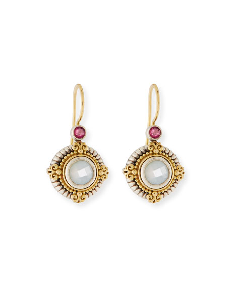 Konstantino Hestia Round Mother-of-Pearl Drop Earrings