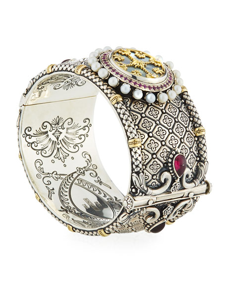 Konstantino Hestia Hinged Wide Bangle Bracelet