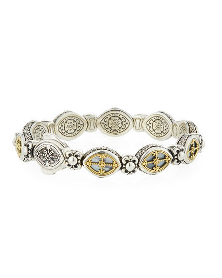 Konstantino Hestia Cutout Mother-of-Pearl Cross Bracelet