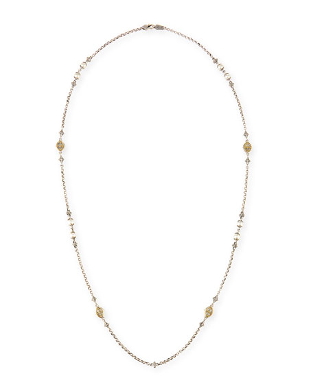 Hestia Mother-of-Pearl Station Necklace