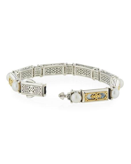 Hestia Mother-of-Pearl Filigree Bracelet