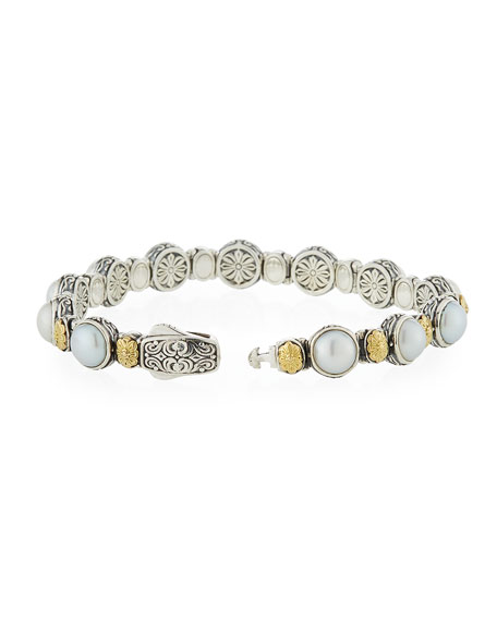 Hestia Mother-of-Pearl Station Bracelet