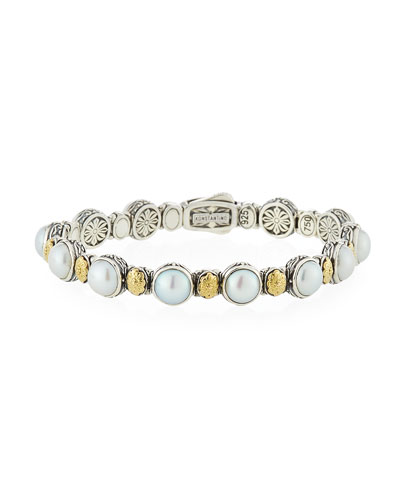 Hestia Mother-of-Pearl Station Bracelet