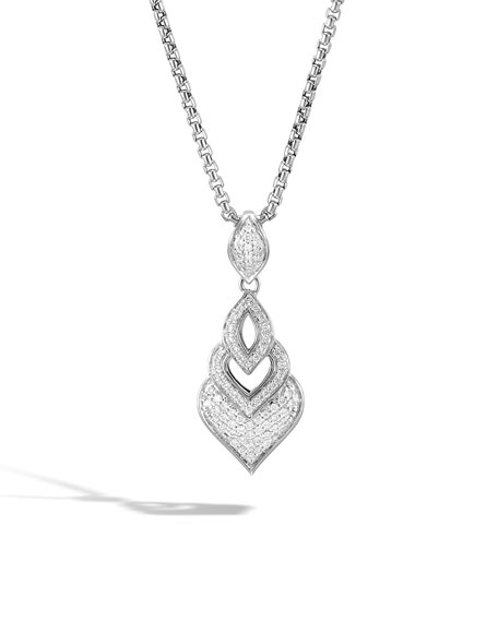 John Hardy Legends Naga Diamond Pendant Necklace