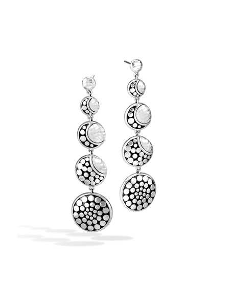 Dot Hammered Drop Earrings