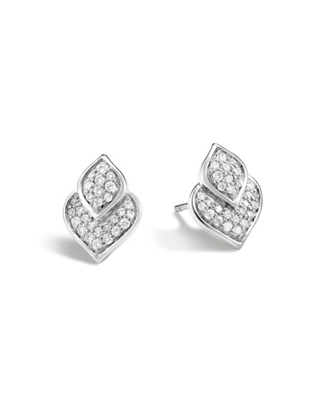 John Hardy Naga Stud Earrings w/ Diamonds