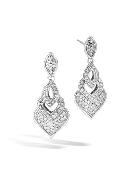 John Hardy Naga Drop Earrings w/ Diamonds