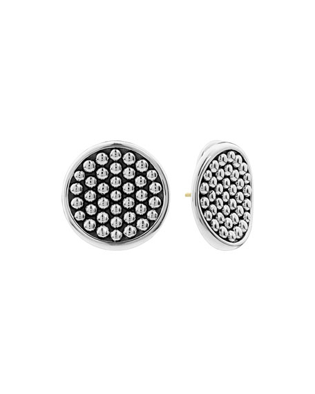 Bold Caviar 25mm Button Earrings