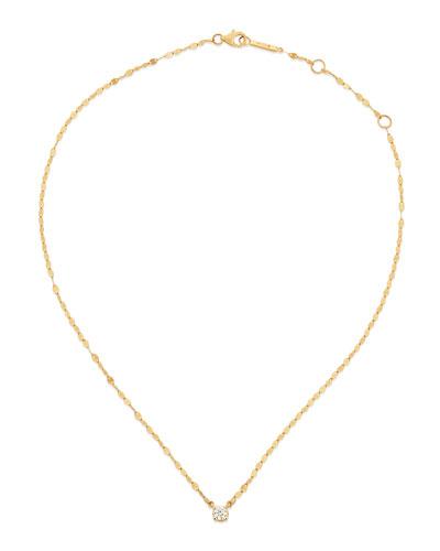 14k Solo Blake Diamond Pendant Necklace