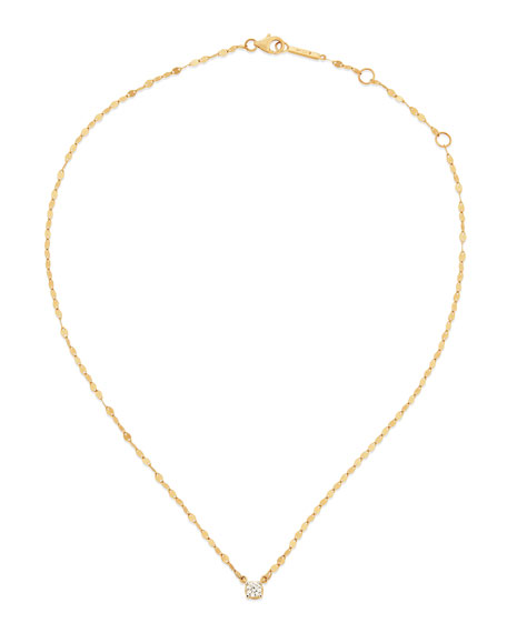 LANA 14k Solo Blake Diamond Pendant Necklace