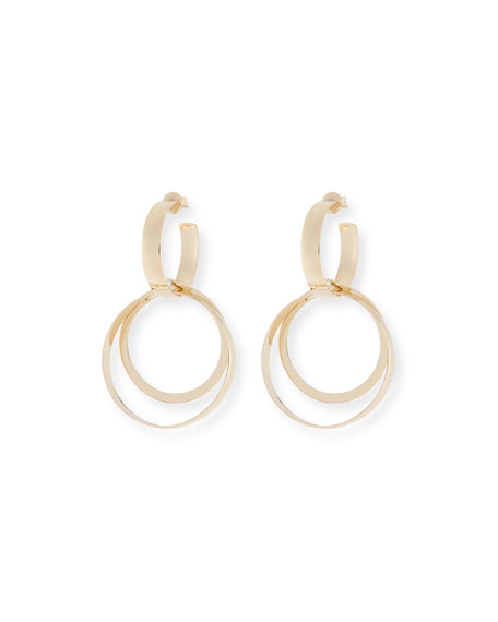 LANA Alias 14k Small Curve Bond Hoop Earrings