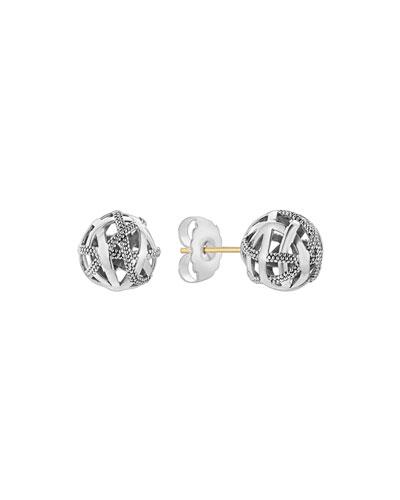 Caviar™ Talisman Woven Knot Stud Earrings