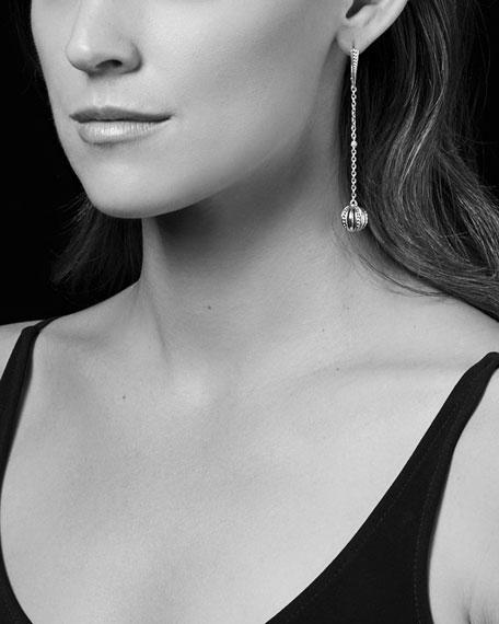 Caviar Talisman Two-Tone Drop Earrings