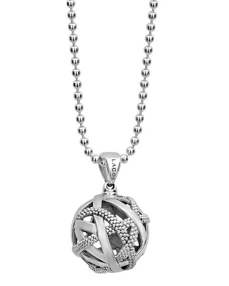 Lagos Caviar?? Talisman Woven Knot Necklace, 34