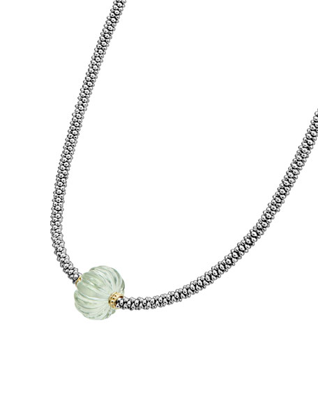 18k Caviar Forever One-Melon Bead Rope Necklace