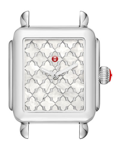 Deco Mosaic Stainless Steel Watch Head