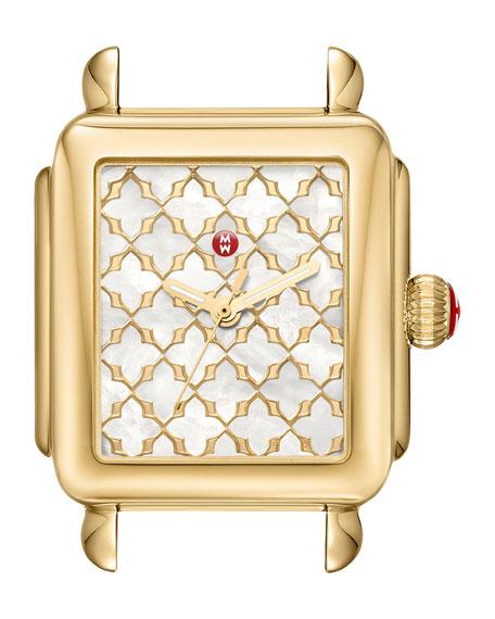 MICHELE Deco Mosaic 18K Gold Plate Watch Head