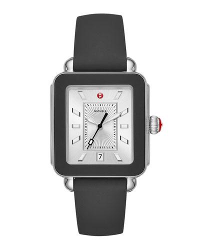 Deco Sport Silicone Watch, Black