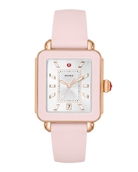 Deco Sport Silicone Watch, Blush