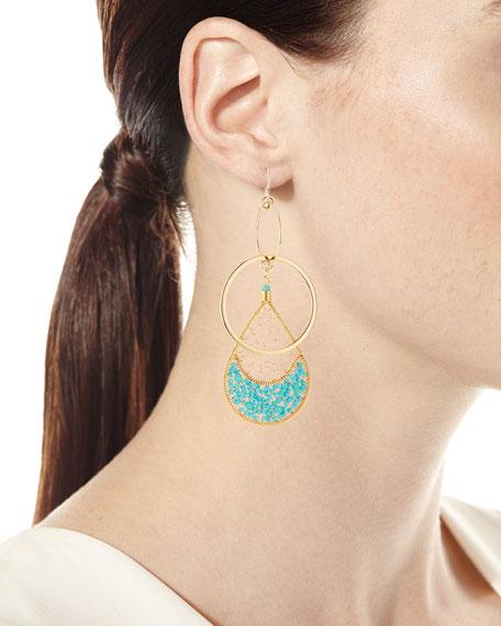 Double-Link Teardrop Earrings