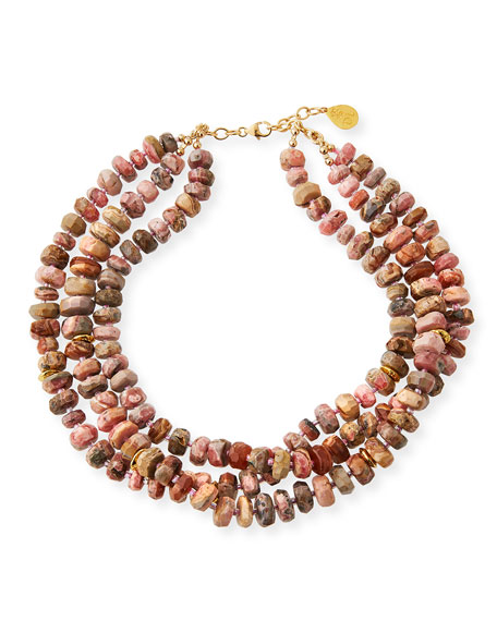 Devon Leigh 14k Multi-Strand Beaded Necklace