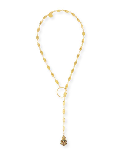 Long Lariat Pendant Necklace, 34