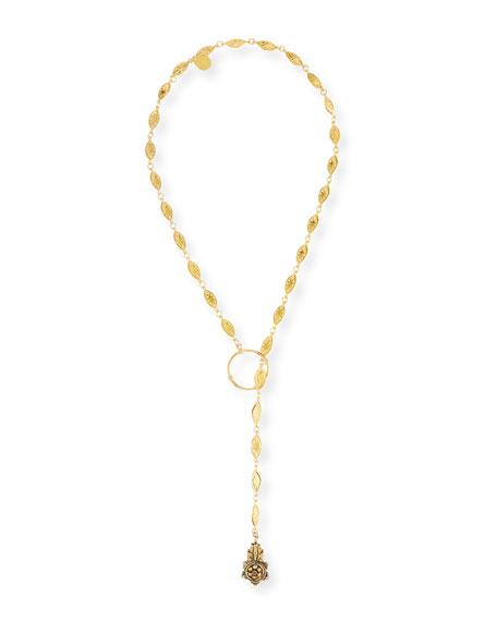 """Long Lariat Pendant Necklace, 34"""""""