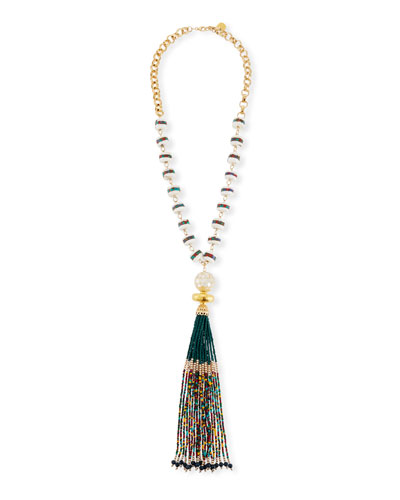 Multicolor Tassel Pendant Necklace