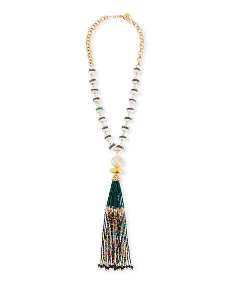 Devon Leigh Multicolor Tassel Pendant Necklace