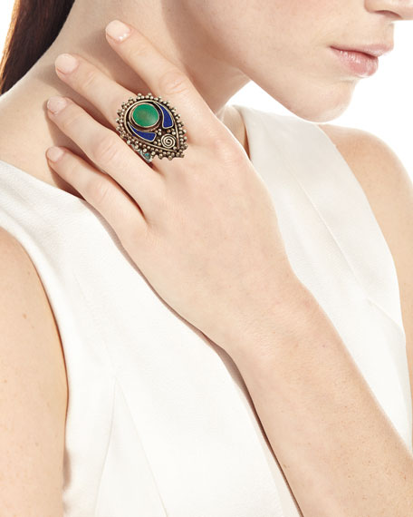 Lapis & Turquoise Ring