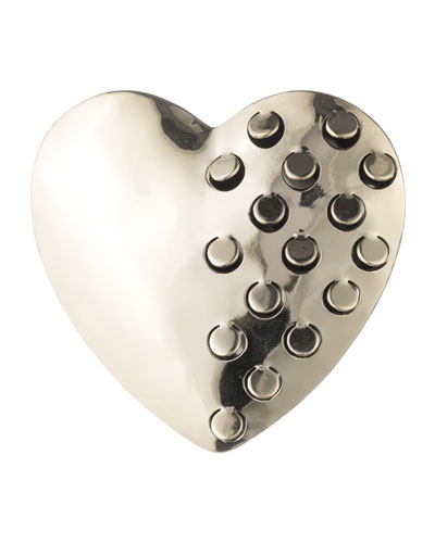 Domed Heart Grater Pin