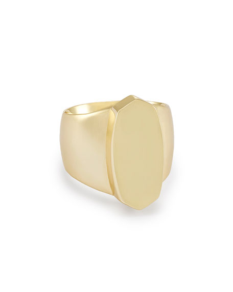 Reagan Signet Ring in 14K Gold Plate